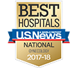 US News & World Report - Best Hospital 2017-2018 badge